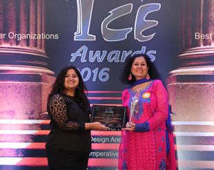 BPCL Garners Glory at ICE Awards 2016: Ms. Marianne Karmarkar receives the ICE Award for Petro Plus